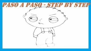 Como dibujar Stewie Griffin l How to draw Stewie Griffin l Padre de Familia l Family Guy