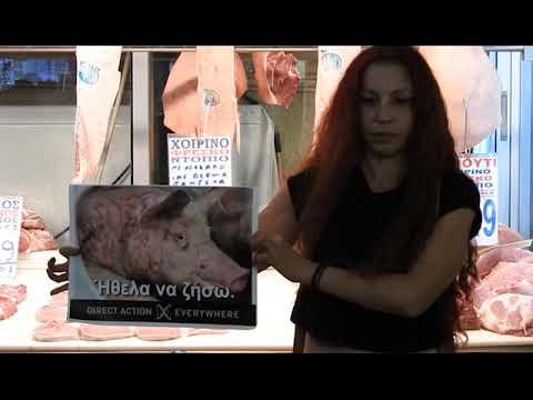 Διαμαρτυρία στη Βαρβάκειο από vegan