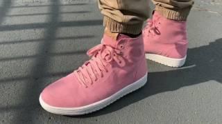 Pink Jordan 1 High Deconstructed On Feet