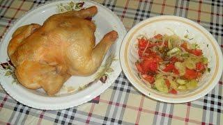 Курица, запеченная на соли в духовке!
