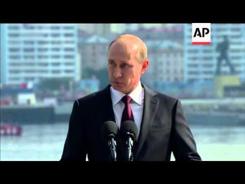 Putin attends Navy Day celebrations at Russian Northern Fleet base near Murmansk