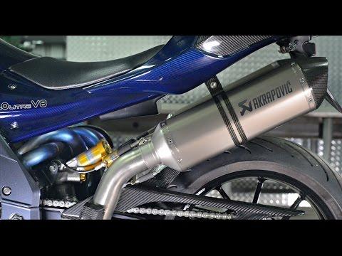 PGM 2L V8 motorcycle  sound teaser  334hp