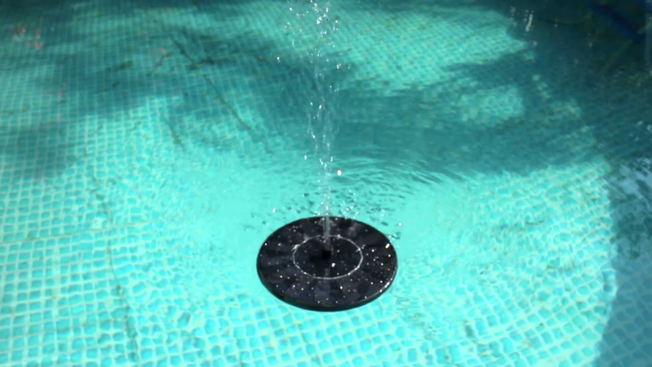 Solar Panel Power Submersible Floating Fountain Water Pump Youtube