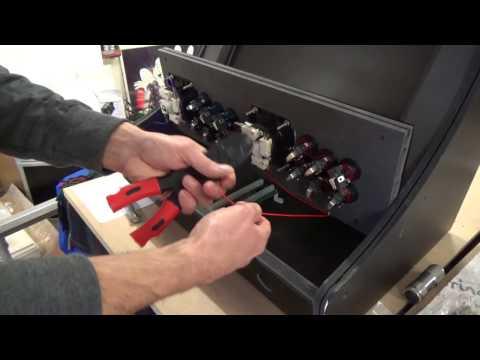 XCADE BARTOP Arcade Cabinet Build Wiring Control Panel to IPac Part 10
