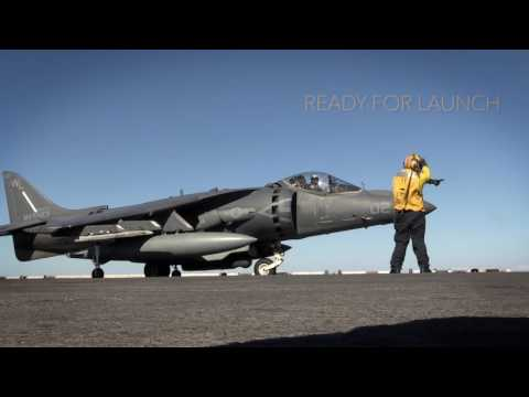 Armed, Ready - AV-8B Harrier II Takes Off