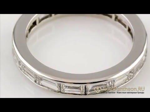 Обручальное кольцо из платины с бриллиантами Harry Winston 62484