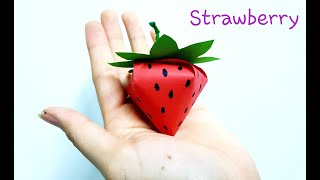 DIY 3D Strawberry with Colour Paper