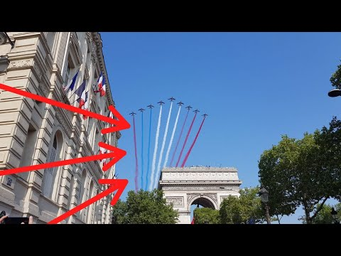 Bastille Day / National Holiday in Paris France 2018 (french flag fail)