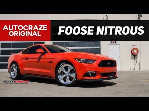 RAGING RED // Foose Nitrous Alloy Wheels // Ford Mustang Mag Wheels | AutoCraze