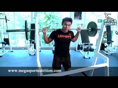 การเล่นกล้ามเนื้อส่วนขา barbell squat (1)