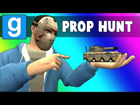 Thumbnail: Gmod Prop Hunt Funny Moments - Crayons & Tanks! (Garry's Mod)