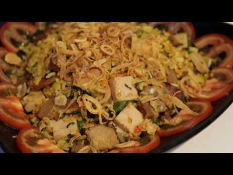 Fried Rice with Chinese sausage , lean pork paste And vegetable