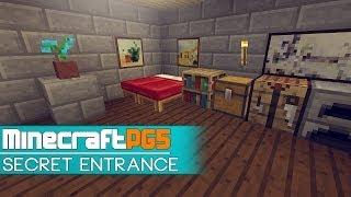 Secret Bed Entrance - Super Easy - Minecraft