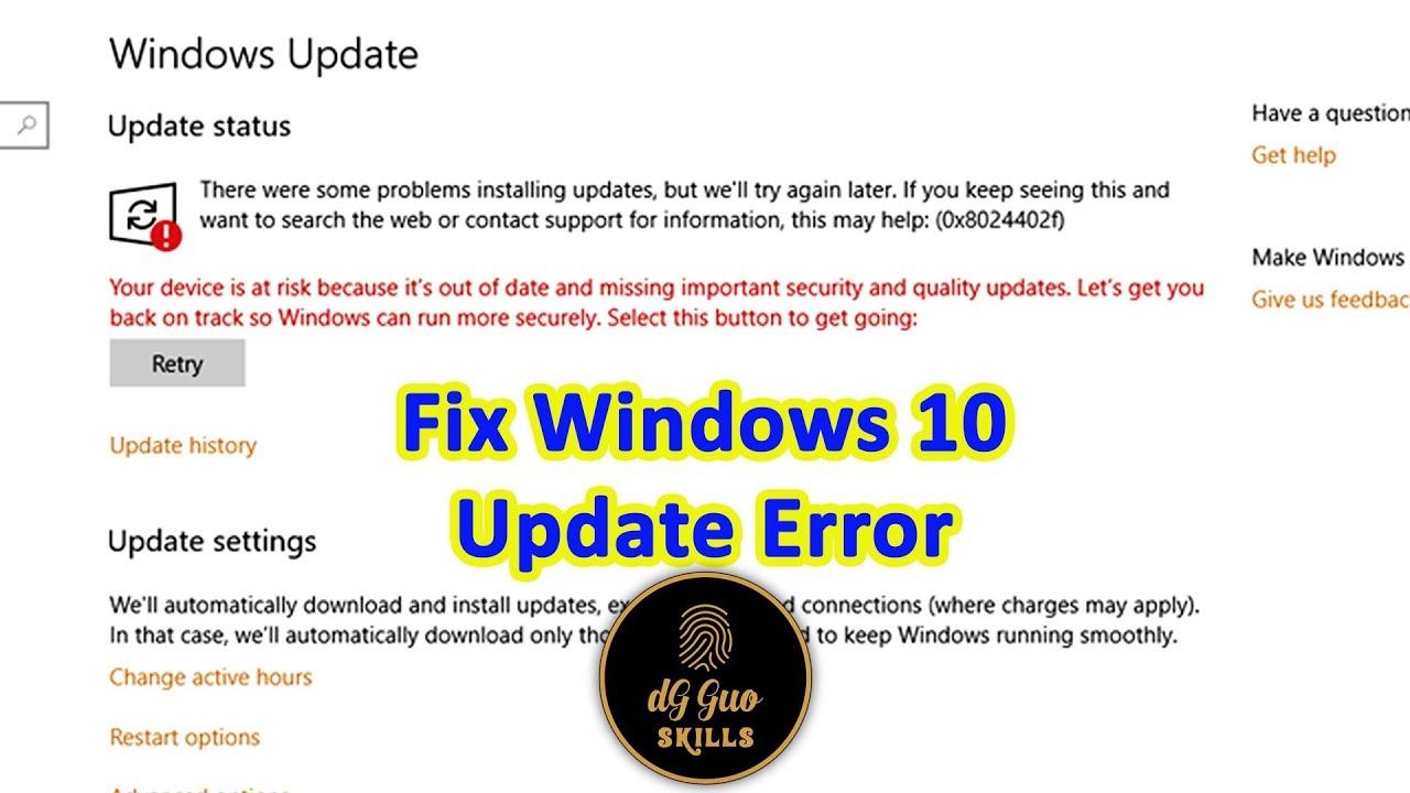 💻🖥 Fix Update error windows 10 version 1703