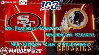 San Francisco 49ers vs. Washington Redskins | NFL 2019-20 Week 7 | Predictions Madden NFL 20