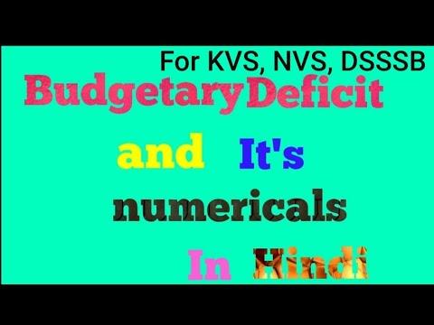 Budgetary Deficit and its numericals class Xll Economics