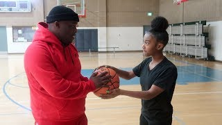 1v1 BASKETBALL VS. ME AND MY BROTHER DUB | IF I WIN HE LEAVES US ALONE !!