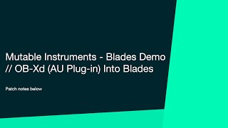 Mutable Instruments - Blades // first play demo
