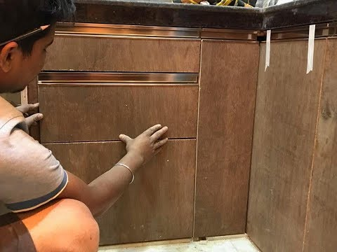 G- Profile हैंडल को कैसे लगाते है ? How to Fitting G-Profile Handle in Kitchen Cabinet