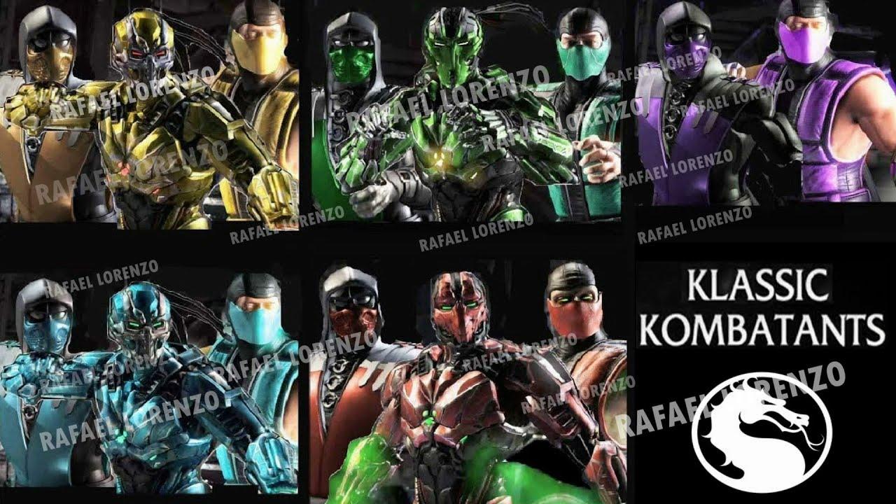Klassic Ninja Cyber Skin Mod Mortal Kombat X Scorpion Sub Zero