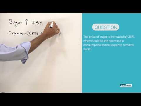 23 Feb: Best Aptitude Training Videos - Percentages Consumption change - For CSAT, CAT & UPSC exams