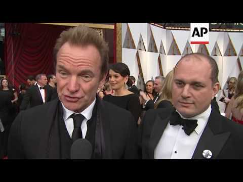 Jackie Chan, Sting, Barry Jenkins and his 'Moonlight' cast arrive at Oscars