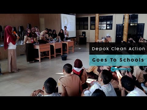 "Depok Clean Action ""Goes To Schools"""