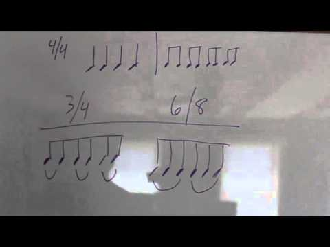 2 Minute Music Lesson - The Difference Between 3/4 And 6/8 Time