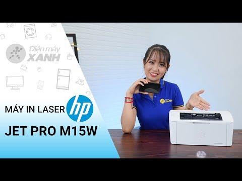 Máy in laser HP Jet Pro M15w: nhỏ gọn, tiện lợi, có wifi in không dây   Điện máy XANH