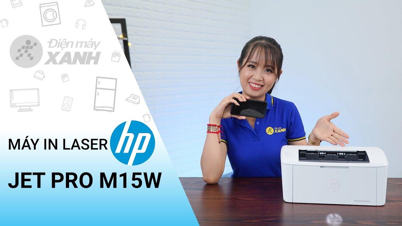 Máy in laser HP Jet Pro M15w: nhỏ gọn, tiện lợi, có wifi in không dây | Điện máy XANH