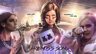 Dua Lipa, Marshmello, Anne-Marie - Friends's Song (Mashup) [MV] (From Alita: Battle Angel)
