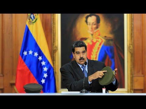 "Venezuelan president says Colombia is training ""terrorist"" opposition leaders"