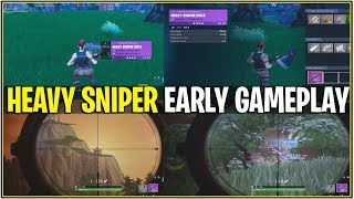 *NEW* Fortnite: LEAKED HEAVY SNIPER EARLY GAMEPLAY! | (Most Powerful Weapon EVER!)
