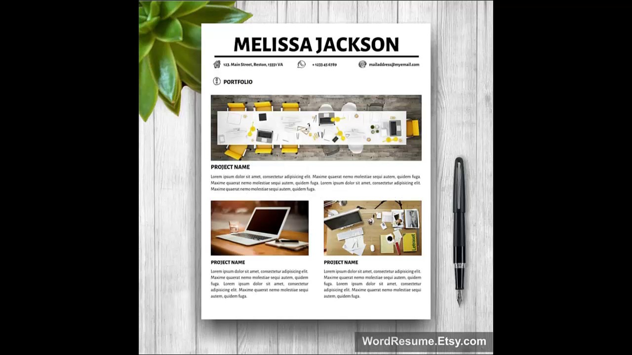 Resume template for microsoft word youtube yelopaper Choice Image