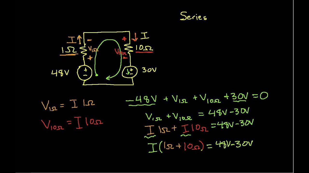 Single Loop Circuits Youtube Circuit Shown In Figure 3201 The Has Two Starting Resistor