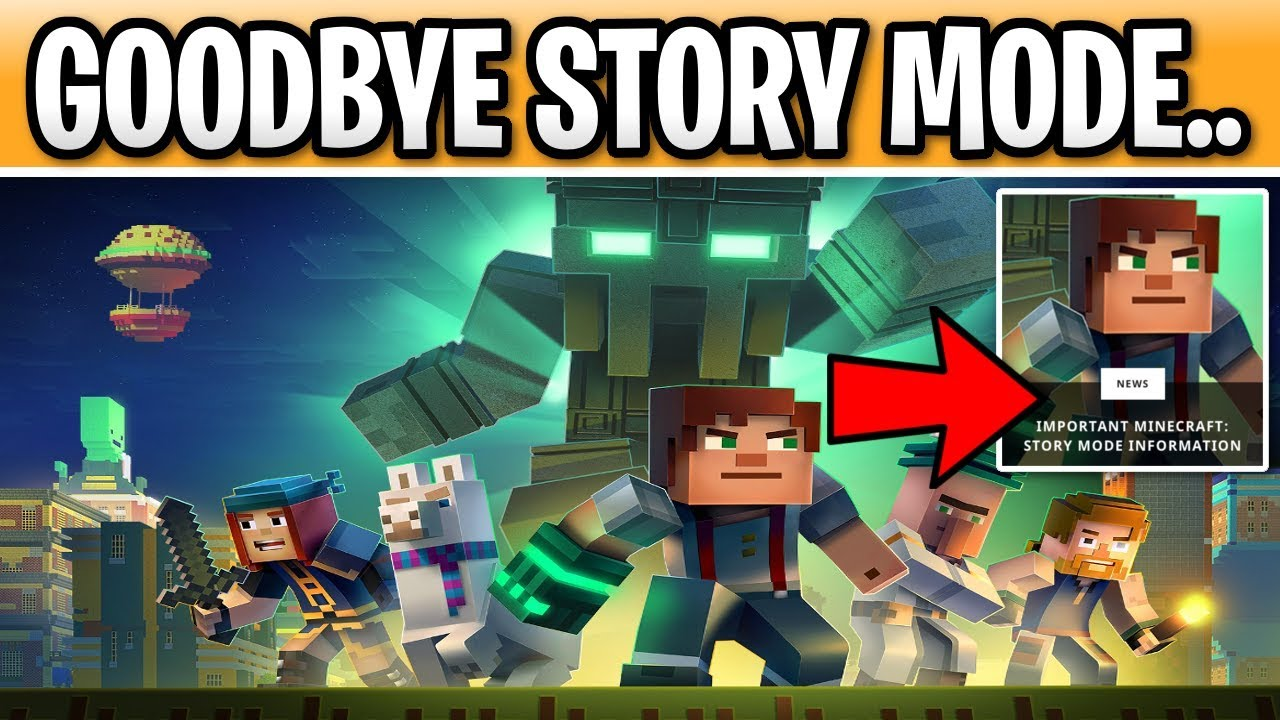 Minecraft Story Mode Is Going Away Forever..(MUST WATCH) Goodbye TellTale  Games