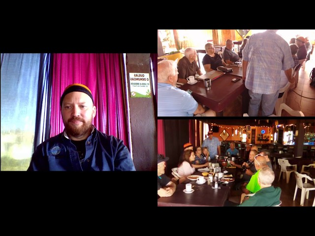 Live Meeting #5 for October 29 at Tequilas  starting 9:15 AM. Join us ether in person or online.