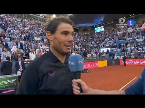 Rafael Nadal On-court Interview after his Victory at Madrid Open 2017