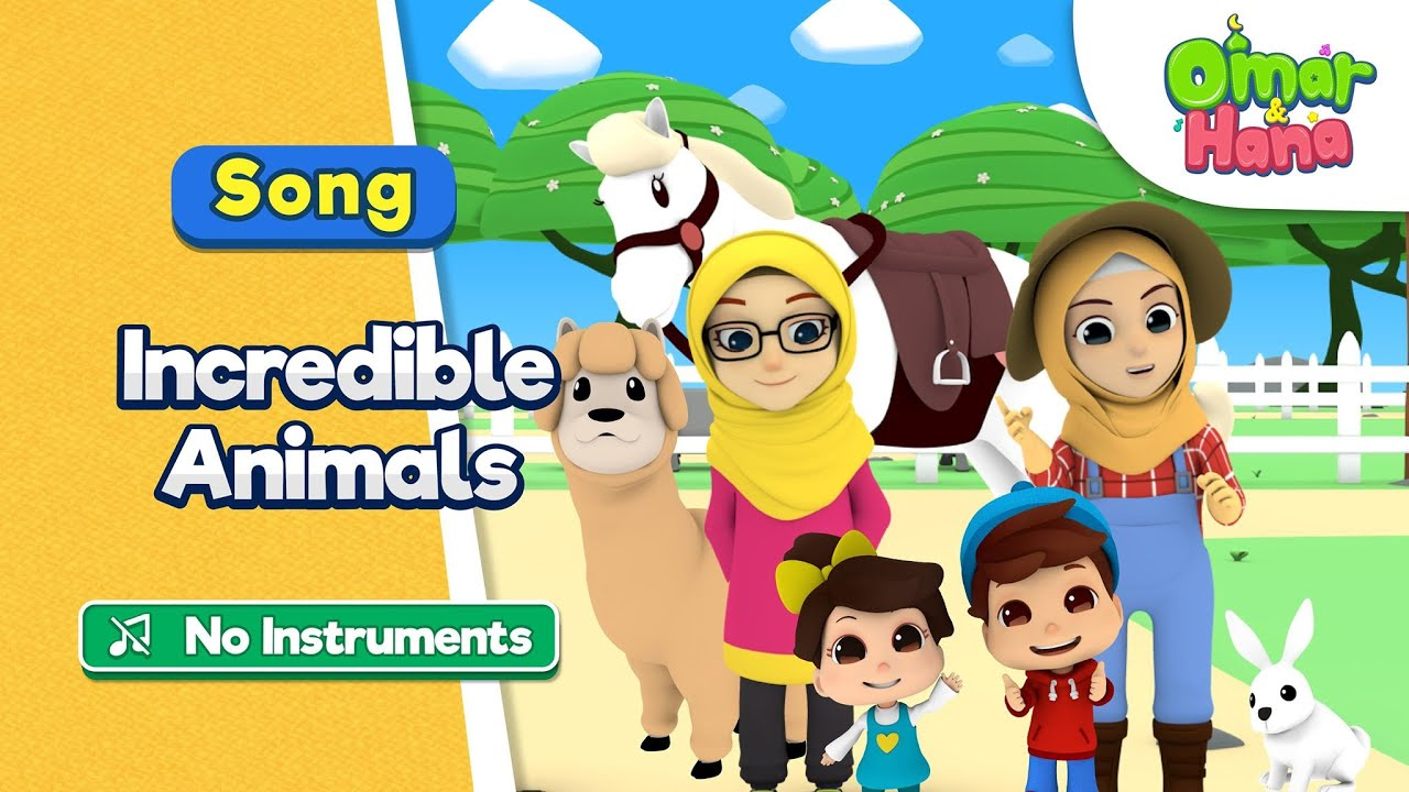 [NO INSTRUMENTS] Omar & Hana | Incredible Animals | Islamic Cartoons