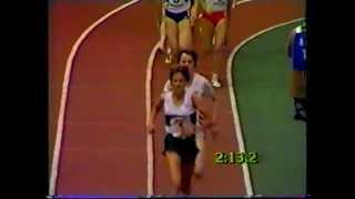 Zola Budd & Yvonne Murray - WAAA Indoor 1500m, Cosford 1985
