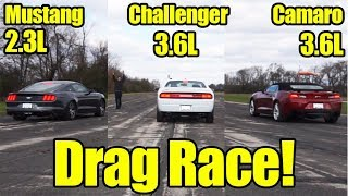3-Way Battle! Mustang vs Camaro vs Challenger Drag Race! Its Kunes Country Prize Fights