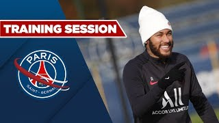 TRAINING SESSION: PARIS SAINT-GERMAIN vs LILLE with Neymar JR