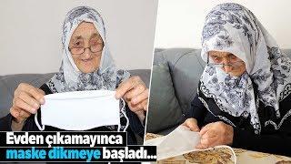 75 Yaşındaki Hanife Nine Diktiği Maskeleri Komşularına Dağıtıyor