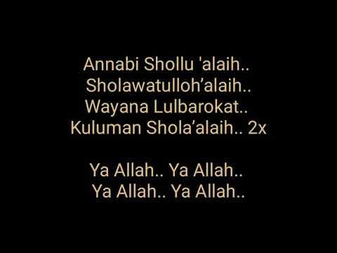Lirik Lagu Sholawat Annabi Shollu'alaih