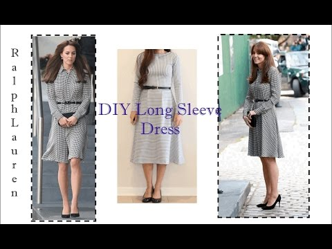 HOWTO DIY KATE MIDDLETON Inspired Dress | SEWING FOR BEGINNERS