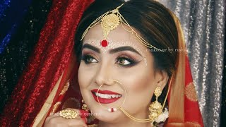 Bengali Bridal Makeup Tutorial Step by step || H.D. || Airbrush || Makeover By Reshmi