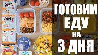 заготовка еды на 3 дня еда с собой правильное питание