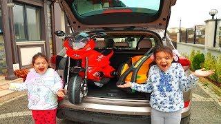 Masal & Öykü and cute toy car - Fun Kid Video