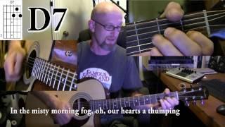 Van Morrison - Brown eyed girl    Great Acoustic guitar tutorial for beginners w/CHORDS and LYRICS