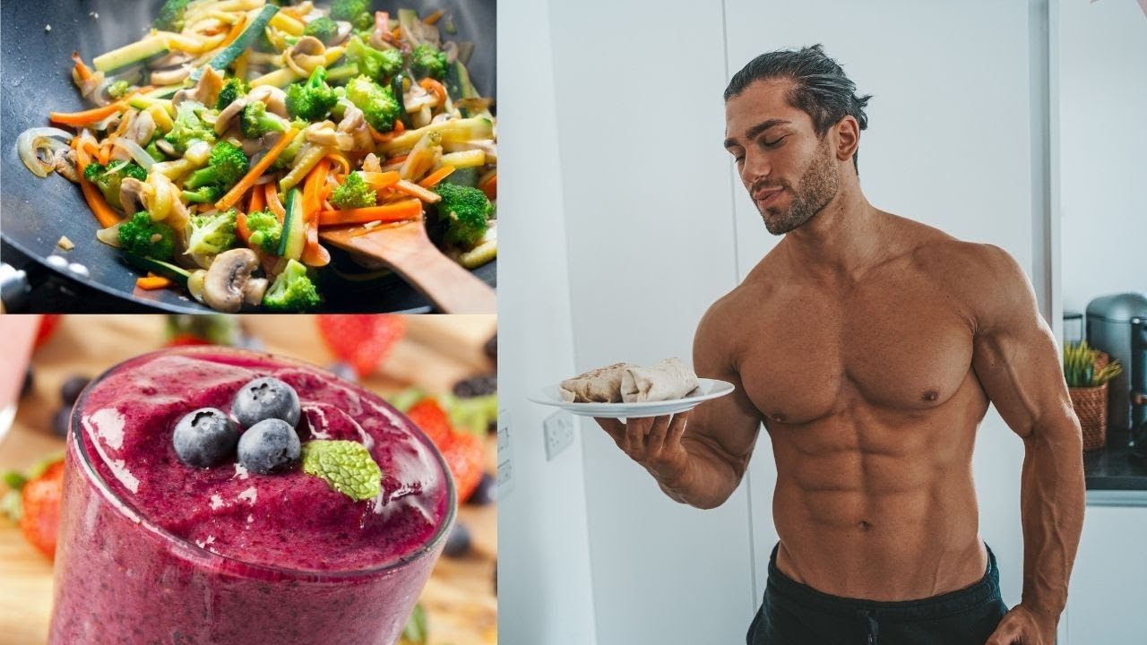 3 QUICK & EASY HIGH PROTEIN LUNCH RECIPES TO BUILD MUSCLE | Wraps, Stir fry & Smoothie